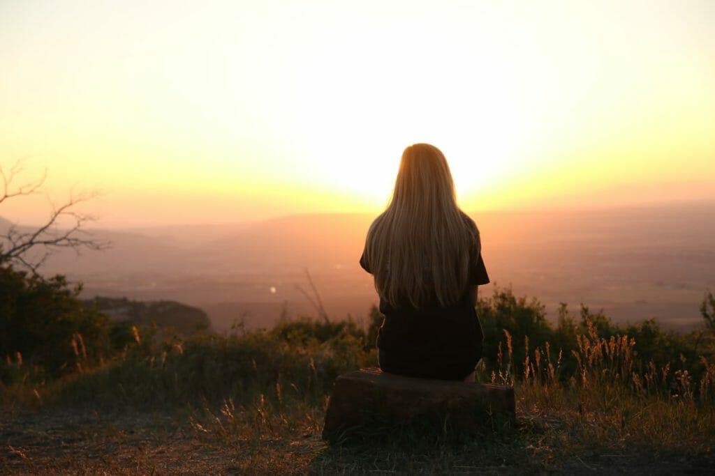 Woman overcoming her opiate addiction
