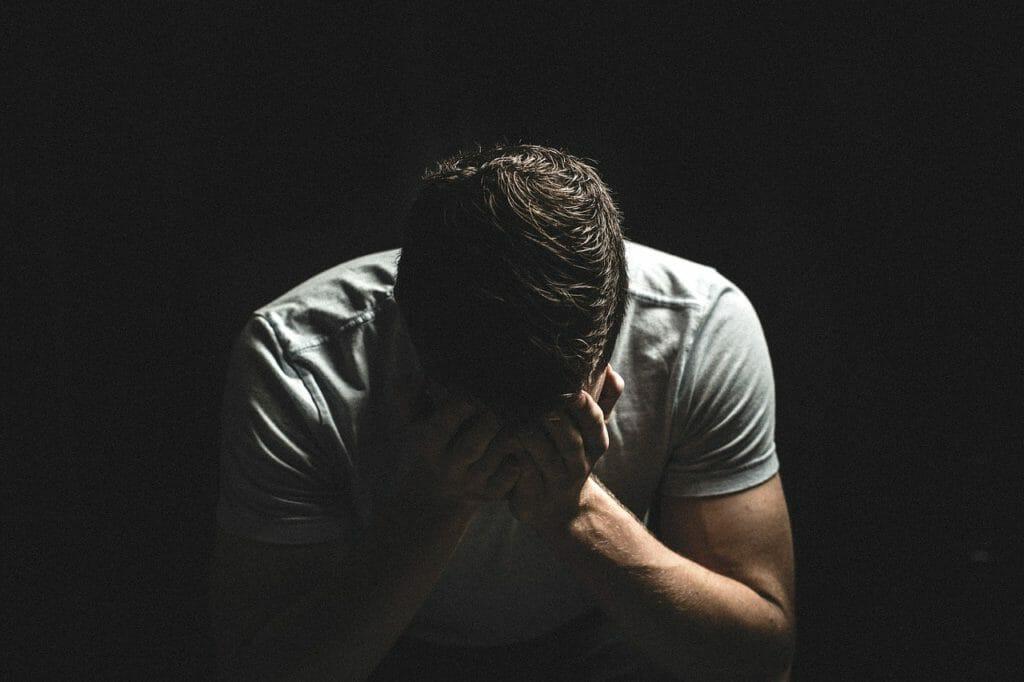 A male experiencing prescription drug addiction