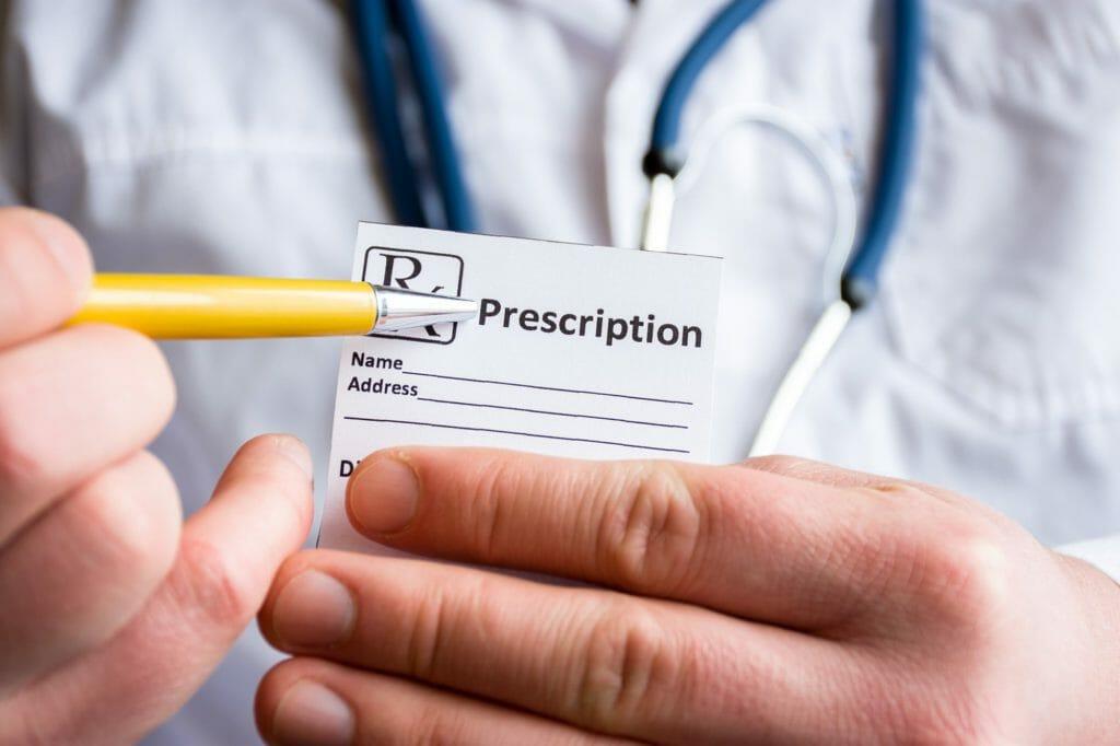 A benzo prescription pad