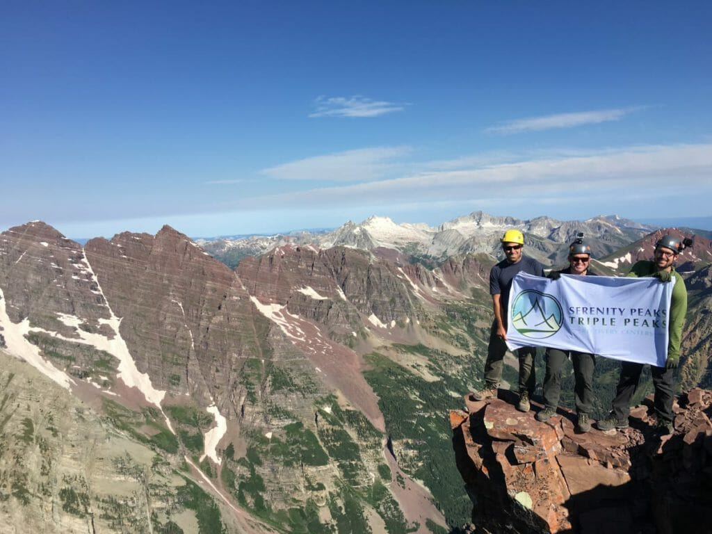 Peaks Recovery team hiking colorado