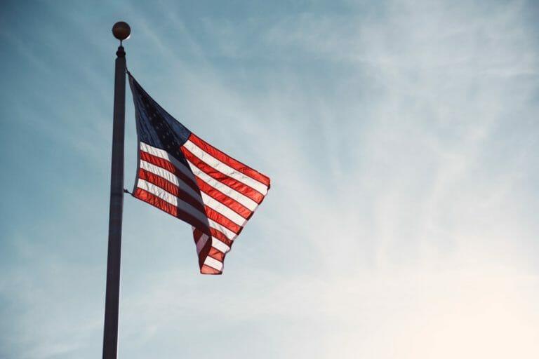 USA Flag representing economic impact of addiction