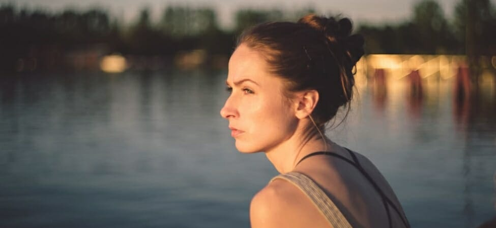 A woman experiencing opiate withdrawal