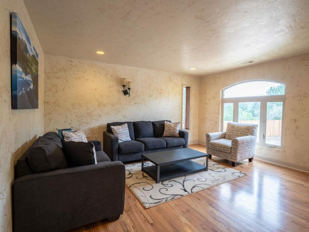 Living room in detox center