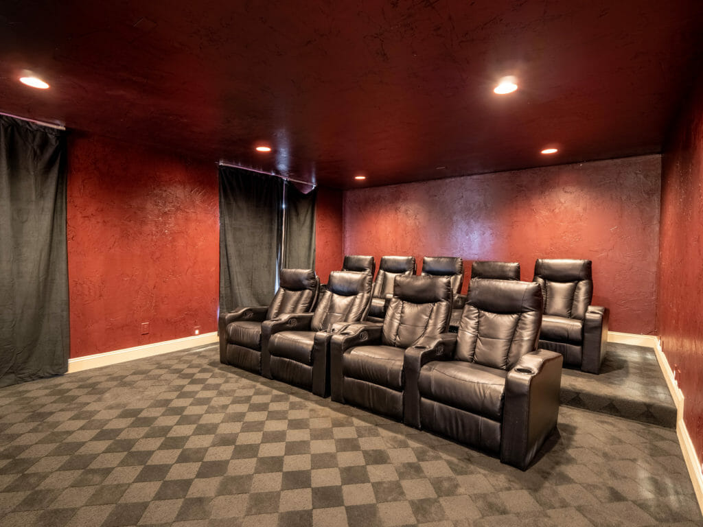 Movie room in medical detox center