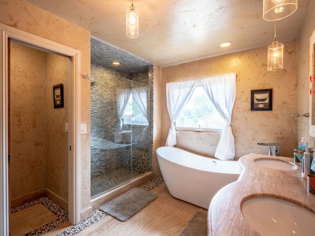 Bathroom in alcohol and drug detox center