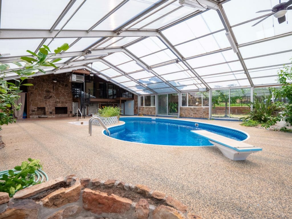 Pool area in inpatient rehab house